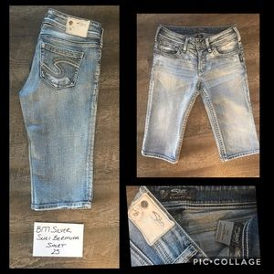 Silver Suki Bermuda Jean Shorts